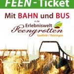 Mit Bahn und Bus zu den Feengrotten