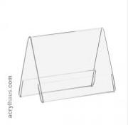 DIN A7 A-Aufsteller im Querformat aus Acrylglas