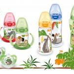 Baby- und Kleinkindflaschen mit Balu und Mogli