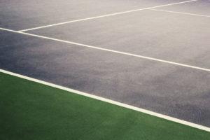 Ausschnitt eines Tennisplatzes