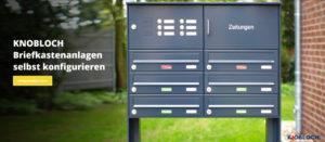 Briefkastenanlagen für Mehrfamilienhäuser selbst konfigurieren