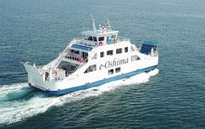 die e-Oshima auf See
