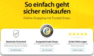 Screenshot der Seite trusted Shops