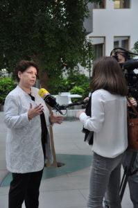 Interview auf der Straße