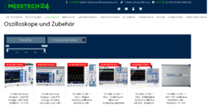 Screenshot des Onlinehändlers messtext24