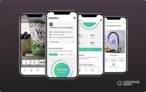 Oberfläche der App auf dem Handy