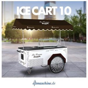 der mobile Eis-Fahrradanhänger