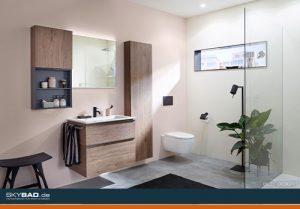 modernes Bad mit Gerberitmöbeln