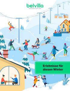 Animation der Welt der Skifahrer