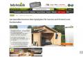Holz-Swimmingpool und Gartendekoration