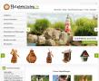Vogelhaus, Windmühle und Weihnachtsdekoration im HolzdekoladenHolzdekoladen